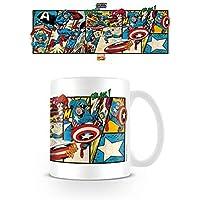 Capitán América - Captain America Panels, Marvel Retro Taza Foto ...