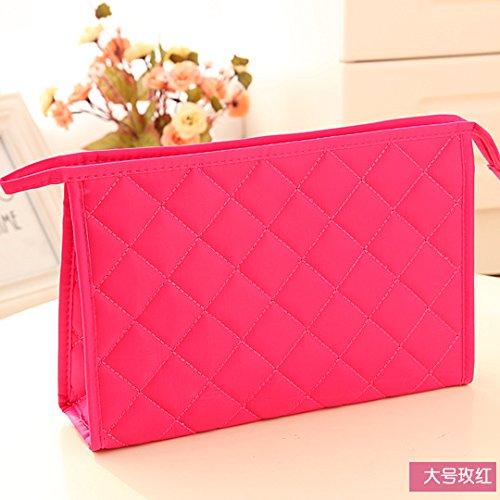 LULANDie Tasche, Kosmetiktasche Tasche Verpackung der Beläge weiblich Größe organisieren, die Größe der, 26,5 * 18 * 7,5 cm, 4108 Rot