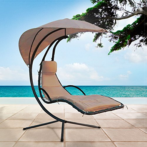Goods & Gadgets Swinging Sun Lounger - Tan