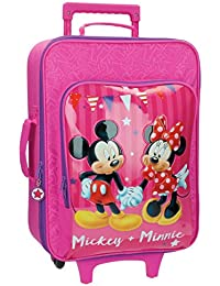 Disney Mickey & Minnie Party Equipaje Infantil, 33.12 Litros, Color Rosa