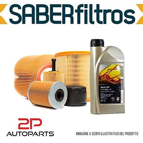Kit tagliando auto, kit tre filtri e 4 litri olio motore GM 5W30 (KF1100/fo)