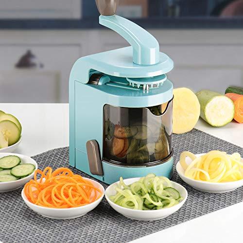 Food Chopper, 5 Klingen Mixer Cutter Gemüse Julienne Slicer mit Hand Pull Fleischwolf Mixer für Obst, Knoblauch, Zwiebeln, Nuss, Kräuter, Gemüse Salat Fleisch