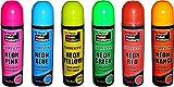 6Dosen fluoreszierendes Neon-Sprühdose 200ml Graffiti (Banksey), ohne FCKW