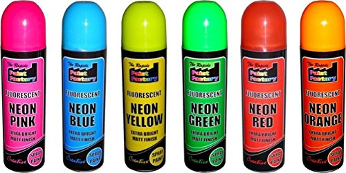 6-cans-of-fluorescent-neon-spray-can-paint-200ml-graffiti-banksey-no-cfcs