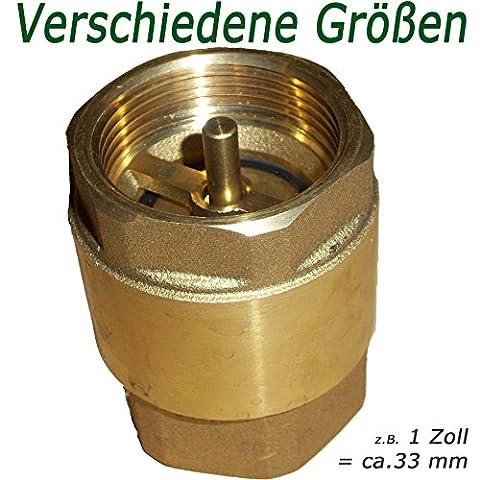 Rückschlagventil 1 Zoll ( 33mm ) schwere Ausführung ---- mit Messingklappe für Brunnen Saugschlauch Hauswasserwerk Schwengelpumpe Gartenpumpe im Garten ------Qualität vom Fachmann !
