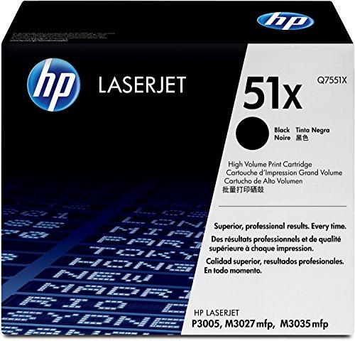 HP 51X (Q7551X) Schwarz Original Toner mit hoher Reichweite für HP Laserjet HP Laserjet P3005, M3027, M3035 - Hp Toner P3005n Laserjet
