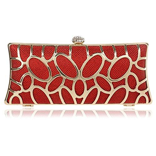 YYW Evening Bag, Poschette giorno donna Red