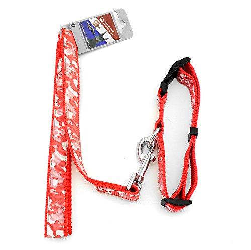 zunea Nylon Medium Großer Hund Camo Halsband Leine Set Pet Walk führt verstellbar -