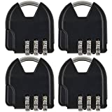 MENGS® 4 Stück S820 Kombinations Zahlenschloss aus Zink-Legierung mit 3 stelligem ZahlenCode für Gepäck, Sporttaschen , Briefkästen, weiche Taschen, Andenken, usw.