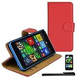 4in1 PREMIUM Wallet in Rot für - Microsoft Lumia 640 /