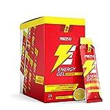 Prozis 24 x Energy Gel + Caffeine 25 g Limone - Amplifica la tua energia, Ideale da assumere durante l'attività fisica, Carboidrati facilmente digeribili ed amminoacidi essenziali, Alimentato da