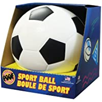 POOF 19cm Schaumstoff Fußball mit Box, Farben können variieren