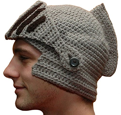 Maschera Protettivo Beanie Moto Viso Scaldino Knight Hat (Grigio)