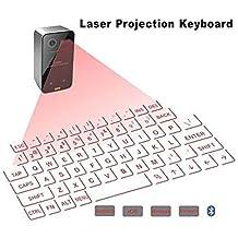SHANGXIAN Láser Proyección Teclado Inalámbrico Bluetooth Virtual Teclado ...