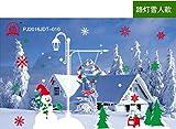 HAPPYLR Weihnachtsschmuck Wandaufkleber Schaufenster Dekoration Glastür Aufkleber Szene Santa Baum Fensteraufkleber, Straßenlaterne Schneemann 52 * 70.5