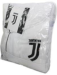 FC Juventus Logo 2017/18- albornoz con capucha, producto oficial, para niños de 6, 8, 10, 12, y 14años. Negro. 100% tela de toalla de puro algodón, color blanco y negro