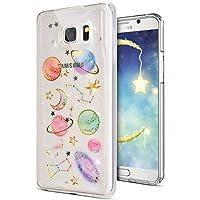 Preisvergleich für Galaxy Note 5 Hülle,Galaxy Note 5 Schutzhülle,Galaxy Note 5 Silikon Handyhülle TPU Case,KunyFond Kosmischer Planet...