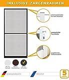 Insektenschutz Fliegengitter Tür Alurahmen Master SLIM PLUS inkl. Zargenrahmen in verschiedenen Größen in weiß, braun oder anthrazit