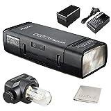Godox AD200TTL 2.4G HSS 1/8000s Pocket flash luce doppia testa 200WS 2900mAh con batteria al litio flash stroboscopico immagine