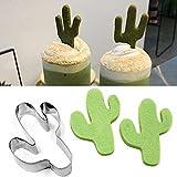 ZHOUBA Federmappe mit Kaktus Keks Ausstecher Kuchen Backform für Mini -, Edelstahl, Silber, Einheitsgröße Vergleich