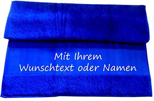 Druckreich Handtuch mit Ihrem Wunschtext oder Namen 100 x 50 cm/Fb. Royal -