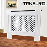 tanburo lackiertes Heizkörper Bezug cabinetwood MDF weiß Grill Style Medium Größe 112X 19X 81,5cm