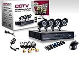 CCTV - Sistema de cámaras de video vigilancia (4 cámaras con infrarrojos, grabación digital y alimentación)