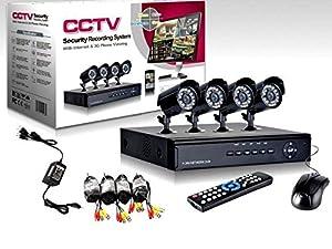 cctv: CCTV - Sistema de cámaras de video vigilancia (4 cámaras con infrarrojos, grabac...