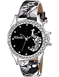 Mikado Stylish Sophia Black Analog Watch for Girls and Women Watch - for Girls