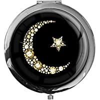 """metALUm - Extragroße Pillendose in runder Form""""Islamischer Mond in Gold"""" preisvergleich bei billige-tabletten.eu"""