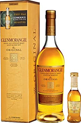 Glenmorangie 10 Year Old Original Single Malt Scotch Whisky Gift Set with 5cl Miniature