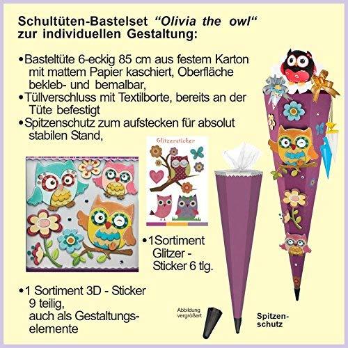 Olivia the Owl Eule Schulranzen Set TOOLBAG SOFT Schneiders u. passende Federtasche Sporttasche Schultüte Schmuckaufsatz-Set Set 14 tlg. – 78405-0513 - 7