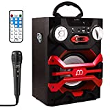 Altavoces Karaoke microfono Portátil inalámbrico con luces LED, lector USB TF card, Radio FM LINE IN 3.5mm control remoto, PC MAC iPhone Android Smartphones