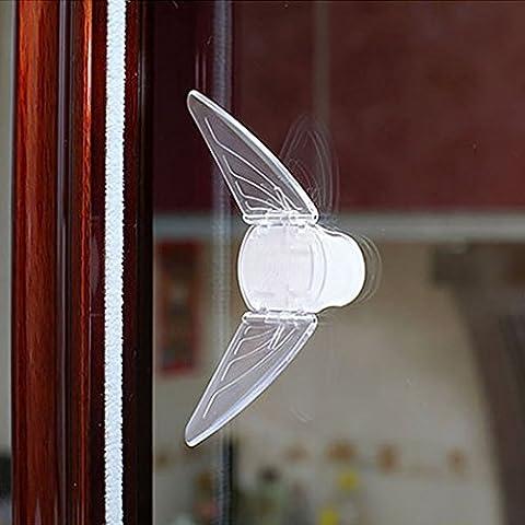 HALOViE Le verrouillage de sécurité de Fenêtre pour bébé coulissante de verrouillage de porte pour placard fenêtre avec adhésif 3M (1pcs)