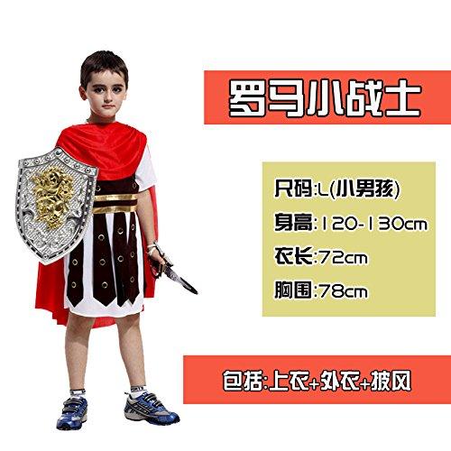 ChengBai Halloween kostüm Kinder Kleidung zeigen erwachsenen männlichen Kind Kämpfer Prince Cosplay Kostüme, 40 # König Rom kleine Kämpfer (König Kostüme Home)