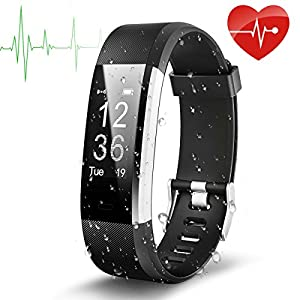 Fitness Tracker Bracelet, EletecPro Sport Waterproof Fitness Bracelet With OLED Screen For Heart Rate Monitor, Pedometer Bluetooth 4.0 Smart Watch with Call / SMS Fits Android Smartphones