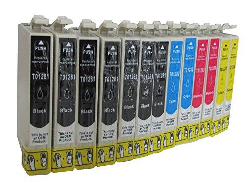 epson sx 230 patronen 12 Druckerpatronen für Epson Stylus S22 SX125 SX130 SX230 SX235 SX420 SX425 SX435 SX440 SX445 / Epson Office BX305 F FW kompatibel Sie bekommen 6 x Schwarz 2 x Blau 2 x Rot 2 x Gelb