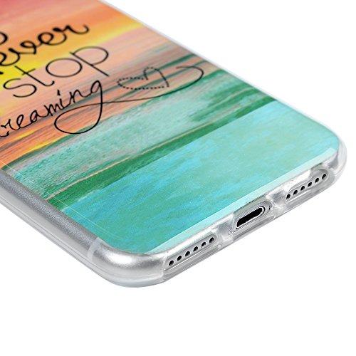 iPhone 7 Hülle iPhone 7 4.7 Zoll Case Cover Kasos Premium Wellenmuster Muster TPU Silikonhülle Tasche Slim Fit Handyhülle Gemalt Durchsichtig Rand Schutzhülle Etui Handytasche Handy Backcover Ozean