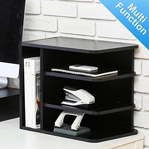 Fitueyes Schreibtisch Ablagesystem Tisch-Organizer aus Holz 35x25x40cm schwarz DO203501WB