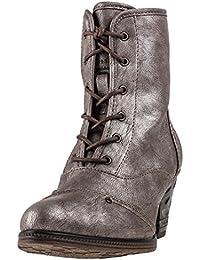 Mustang Metallic Titan Heel Shoe High - Botas de Material Sintético para mujer