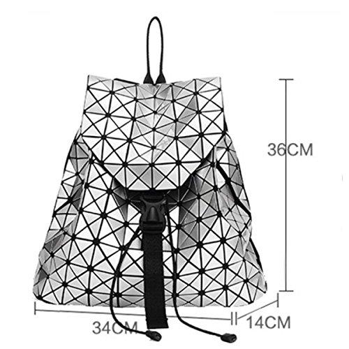 Nbag Donne Geometriche Rombo Borsa Tracolla Laser Diamante Sequin Moda Femminile Borsa Personalizzata Borsa A Tracolla Donna Casual, Bianco Bianco