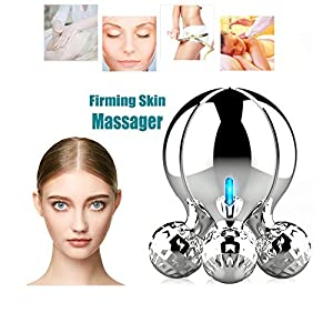 LIJJY 4D Gesicht Massagegerät, Microcurrent Body Sculpting Festerer Former/Muskel Entspannung/Haut Straffen Lift 360 Grad Rotation Massage Roller