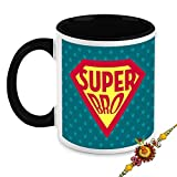 Rakhi Gift For Brother - HomeSoGood The Greatest Brother In Universe White Ceramic Coffee Mug With Rakhi - 325 ml