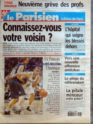 PARISIEN EDITION DE PARIS (LE) [No 18373] du 08/10/2003