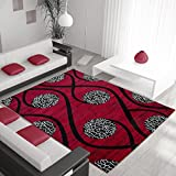 Lallee – Alfombra Martinica Life – Heat Set Modern Carpet – Tappeto – Tapis, rojo, 160 x 230 cm