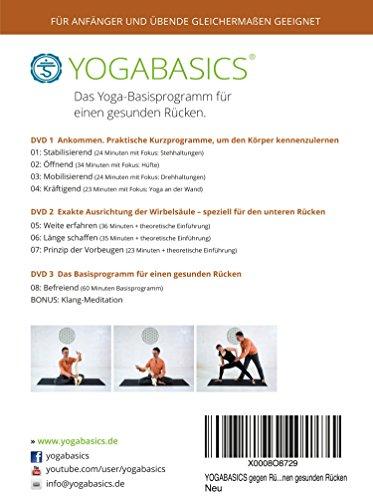 YOGABASICS: Das Yoga-Basisprogramm für einen gesunden Rücken (3 DVDs) - 2
