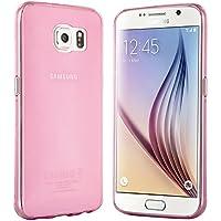 Samsung Galaxy S6 Hülle in Pink - Silikonhülle Case Schutzhülle Tasche für Galaxy S6