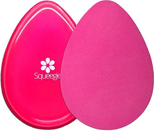 Rosa Body Mousse (The Original Squeegie Blender   Make-up Silikon und Kosmetik Schwamm in 1 Beauty Produkt   Geschmeidig, Zart und Foundation-Smart   Hot Pink)