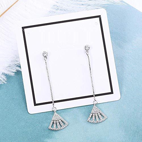Daeou Damen Ohrringe Ohrringe 925 Silber Nadel große umrandeten Mikro-Intarsien Zirkon Blatt Ohrringe können Freunde senden.