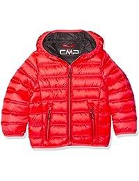 CMP plumífero para joven, otoño/invierno, niño, color Red Fluo/Antracite, tamaño 152